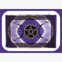 Triple Moon Pentagram Tapestry