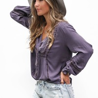 AMUSE SOCIETY Let It Shine Woven Top