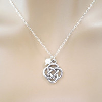 Celtic knot necklace, celtic necklace, Irish necklace, pearl necklace