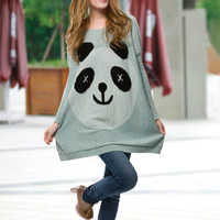 Panda loose round neck sweater