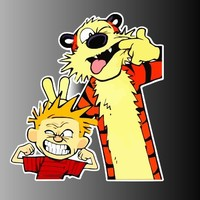Calvin and Hobbes Sticker Decal 5
