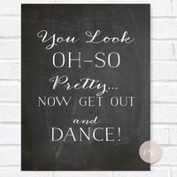 Chalkboard Wedding Bathroom Sign - Rustic Weddings - (PG-4)