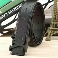 LV Fashion Contracted Smooth Buckle Belt Leather Belt G-A-GFPDPF Tagre™
