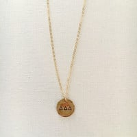 Sorority Disc Necklace