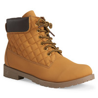 Blue Suede Shoes Quilted Utility Boot - Aeropostale