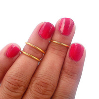 3 Above the Knuckle Rings -  Gold   Above Knuckle Ring  - Set of 3 by Tiny Box