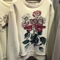 Gucci Fashion Casual Long Sleeve Round Neck Top Sweater Pullover Sweatshirt