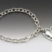 Silver Spoon Lily of the Valley Vintage Heart Charm Bracelet Lila BCH: Jewelry: Amazon.com