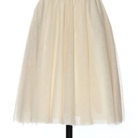 Tonight is for Tulle Skirt in Cream