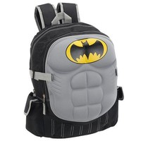 Batman 16 Inch Backpack with Padded Chest Plate - Black