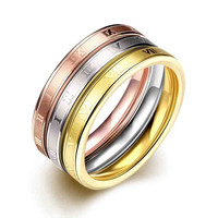 Titanium Steel rings for men Color time aliancas jewerly accessories118
