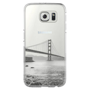 Golden Gate Bridge San Francisco California Samsung Galaxy S6 Edge Clear Case S6 Case S5 Transparent Cover iPhone 6s plus Case