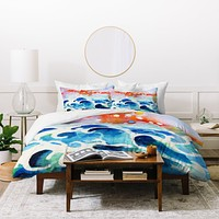 Ginette Fine Art Tides Of Time Duvet Cover