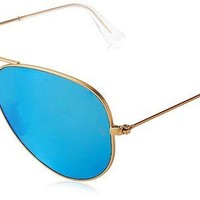 VONEXO9 Ray-Ban Women's Oversized Mirrored Aviator Sunglasses