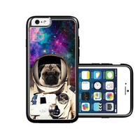 RCGrafix Brand Astranout Space Hipster Pug iPhone 6 Case - Fits NEW Apple iPhone 6