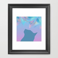 Cat Colored Dream ! Framed Art Print by oursunnycdays