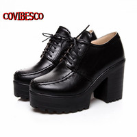 Big size 34-43,Sexy punk women boots euro style platforms Square heels ankle boots fashion motorcycle boots martin shoes