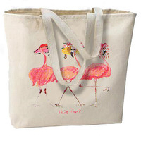 Hot Pink Flamingos New Oversize Tote Bag, Great For Summer Getaways, Beach