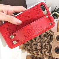 Hermes Trending Women Men Stylish iPhone Phone Cover Case For iphone 6 6s 6plus 6s-plus 7 7plus 8 8plus X Red I12408-1