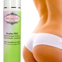Svelte PRO Supercharged Organic Anti-Cellulite Treatment with L'Carnitine, CoQ10 and 25 Fat Fighting Slimulators
