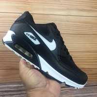 DCCK Nike Air Max 90 325213 060 Nike black and white Air cushion running shoes men's and women's shoes