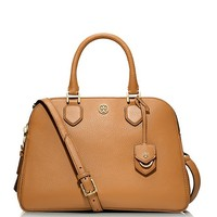 Tory Burch Robinson Pebbled Triple-zip Satchel