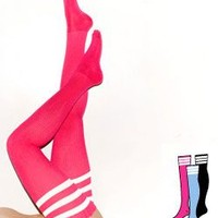 rsaskth2pac - Stripe Thigh-High Socks (3-Pack)