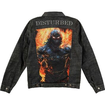 Disturbed Men's  Indestructible Denim Jacket Denim Jacket Denim