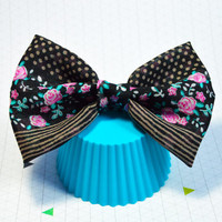 Large Hair Bow, Floral Hair Bow, Chic Bow,Stripes and Dots Bow, Cute Hairbow,Hair Accessory,Fabric Hair Bow, Alligator Clip Bow, Baby, Adult