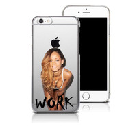 Rihanna Drake Work Transparent iPhone Case