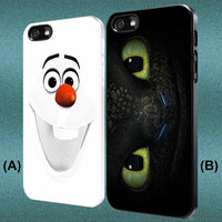 Olaf Disney Frozen- Toothless How To Train Your Dragon Custom Case iPhone Case,Samsung Galaxy Case For iPhone 4,4s,5,5s,5c,6 Galaxy s3,s4,s5