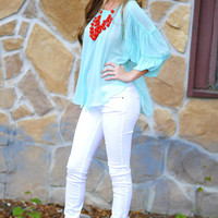 Go With The Flow Top: Sky Blue | Hope's