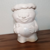 Antique 50s McCoy Bobby the Baker cookie jar, pillsbury dough boy cookie jar, Mccoy pottery, made in the USA