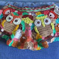 """Knitted shorts """"Owls"""""""