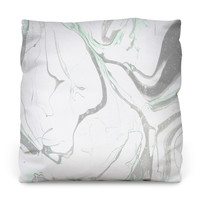 Pale Marble Outdoor Throw Pillow