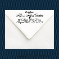 Future Mr and Mrs Address Stamp - Customized Engagement Gift - Formal Wedding Name Stamp - RSVP Wedding Stamp - Bride To Be GIft
