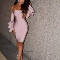 Elaina Blush Mini Dress