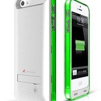 iPhone 5S Battery Case, iPhone 5 Battery Case, Alpatronix® [BX120 - MFi Apple Certified] 2400mAh External iPhone 5s/5 Charger Case Removable Rechargeable Protective iPhone 5S Charging Case [Ultra Slim Portable iPhone 5 Charging Case / Full Compatible Suppo