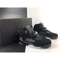 Paris Saint-Germain x Air Jordan 5 Black Basketball Shoes 40-47