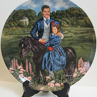 Knowles Limited Edition Plate 1985 Gone with the Wind 8th Issue  Bonnie & Rhett