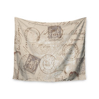 "Heidi Jennings ""World Traveler"" Brown Wall Tapestry"