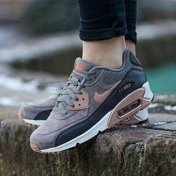 Nike Air Max 90 Essential Men's and Women's Retro Casual Shoes Rear Real Air Cushion Sneakers