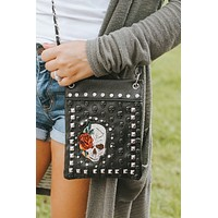 Embossed & Fabric Skull Messenger