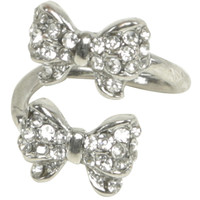 Rhinestone Bow Wrap Ring | Shop Jewelry at Wet Seal