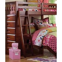 Camilla L-Shaped Merlot Bunk Bed with Dresser