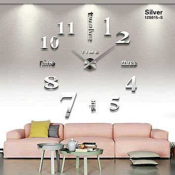 Big Size Wall Sticker DIY Wall Clock