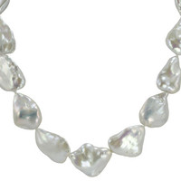 Imperial Pearl:  13-20mm Baroque White Pearl Necklace