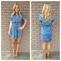 Denim Drawstring Dress