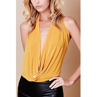 Low Cut Halter Backless Top