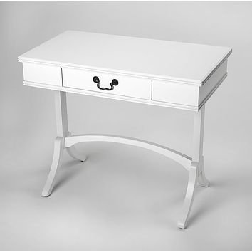Butler Specialty Company Alta White 1 Drawer Writing Desk